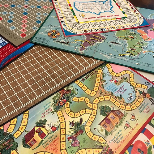 Vintage Board Games, Craft Supply, Game Replacement, Boards Only, Art Projects