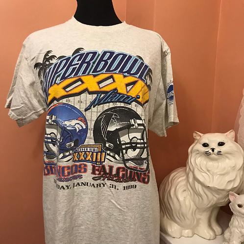 Vintage Tshirt, 90s T-Shirt, NFL, Champions Denver Broncos, Miami 1999