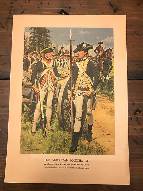 Vintage Print, Military Art, 1966, The Am1960serican Soldier,1781