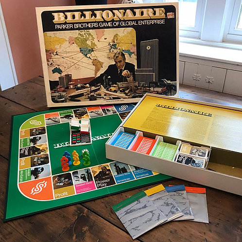 Vintage Game, Billionaire, 70s Board Game, James Bond, Game Night