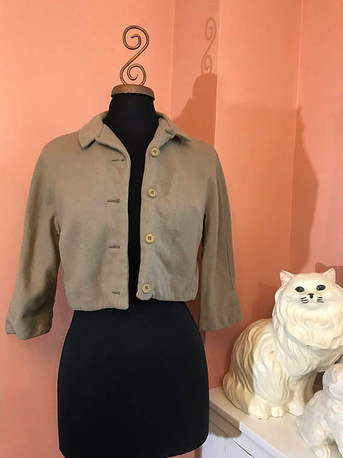 Vintage Jacket, 60s Blazer, Cropped Coat, 60s Jacket, Cropped Wool Jacket