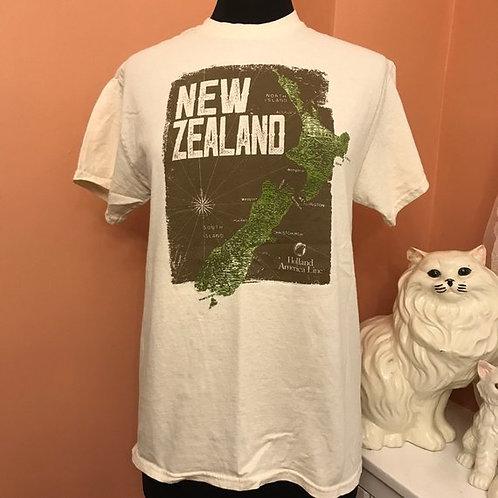 90s T-Shirt, Vintage Tshirt, New Zealand, Holland America Line, Cruise