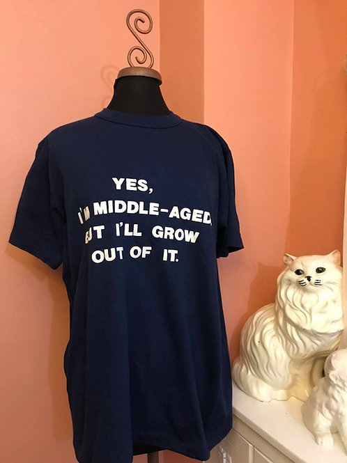 Vintage Tshirt, 70s Shirt, 80s T-shirt, Middle Age, Over the Hill, Funny Tshirt