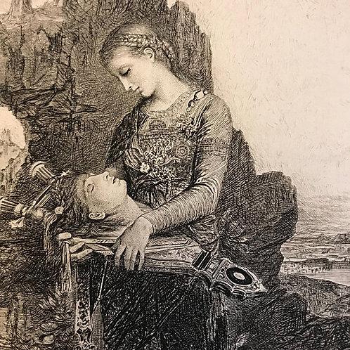 Antique Print, Litho, Orpheus, Gustav Moreau, Ovid Metamorphoses, Art, Milton