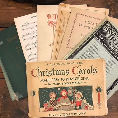 Antique Sheet Music, Classical Piano, Christmas Carols, Irish Folk Music