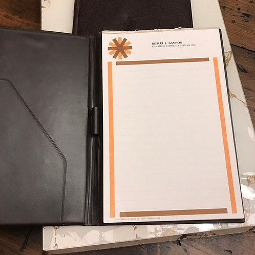 Vintage Vinyl Notepad, 1980s Retro Computer Tech Company Stationary