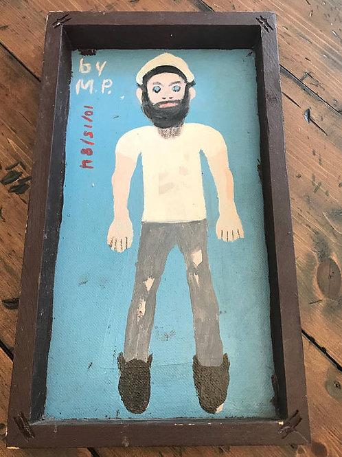 Hipster Sailor Zombie, Original Painting,