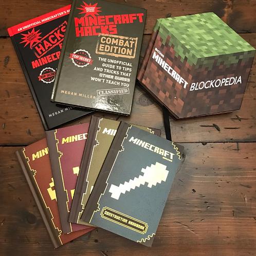 Minecraft Book Set of 7, Hacks, Combat, Blockopedia, 2013-2014 (C844)