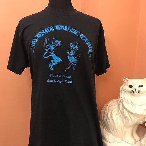Vintage T-Shirt, RARE 80s Tshirt, Blonde Bruce Band, Blues, Boogie, San Diego