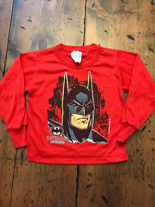 Vintage 90s, Batman Returns, Sleep Shirt, PJ Top, Michael Keaton, DC Comics