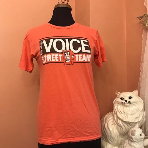 Village Voice, Street Team Tshirt, Orange NYC Newspaper Box