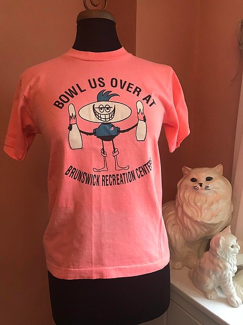 Vintage T-Shirt, 90s Tshirt, Bowling, Bowl Us Over, Brunswick Recreation Center