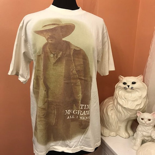 Vintage 90s Tshirt, Vintage Tshirt, Tim McGraw, All I Want, Sexy Jeans Cowboy