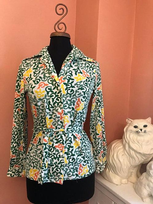 Vintage Girlscouts, Vintage Blouse, 70s Blouse, Retro Shirt, Girlscouts USA