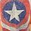 Thumbnail: Captain America Distressed Tee, Junior L, XL