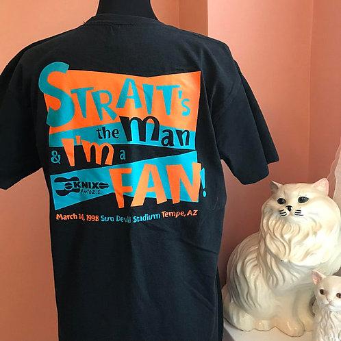 Vintage 90s Tshirt, Vintage T-Shirt, KNIX FM 102.5, Straits the Man