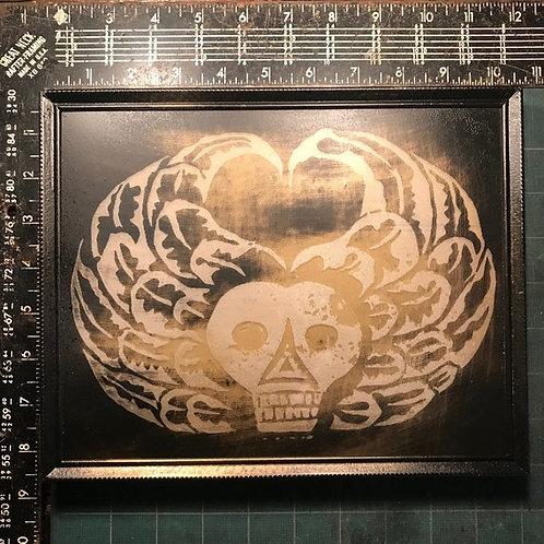 Skeleton Art, 18th Century Graveyard, Winged Skull, Memorial Tombstone