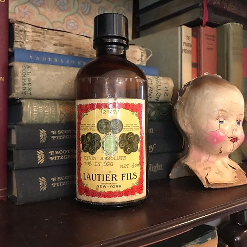 Antique Perfume Bottle, Lautier Fils, Civet Absolute, Tincture of Civet