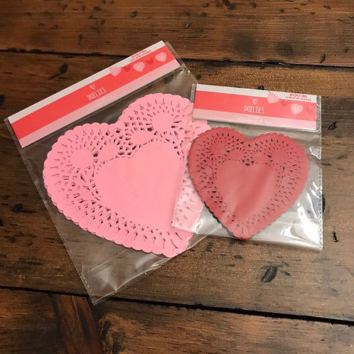 Heart Doilies, Pink, Red Paper Doilies, Valentine's Day, 5SOS, Craft Supply