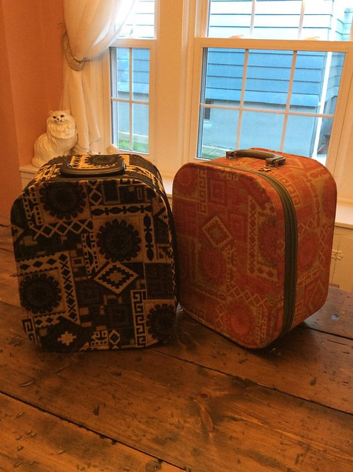 Weekender Bag, Tapestry, Overnight Bag, Mod Carry on Suitcase, Femina by Munro