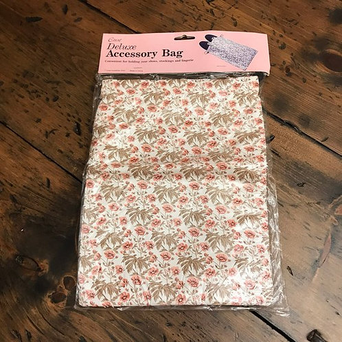 Vintage Accessory Bag, Tablet Sleeve, Floral Drawstring Pouch, Shoe Storage Bag