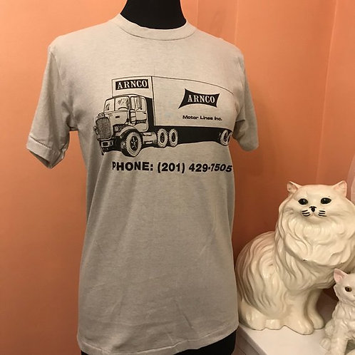 Vintage 80s T-Shirt, Vintage Arnco Motor Lines, Trucking Shirt, Tractor Trailer