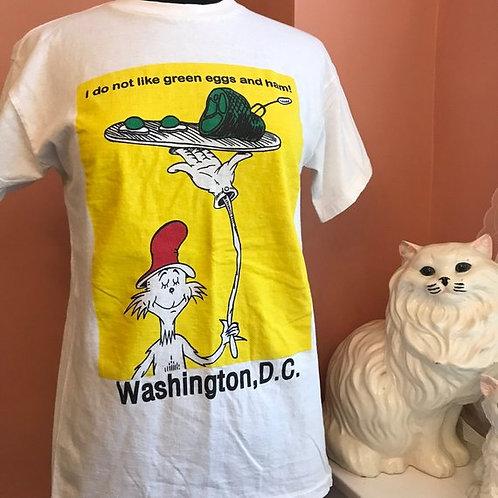 Vintage Tshirt, Dr. Seuss, Green Eggs and Ham, Washington DC