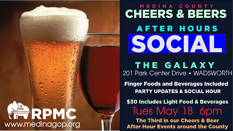 CHEERS & BEER AFTER HOURS MAY 18th - THE GALAXY
