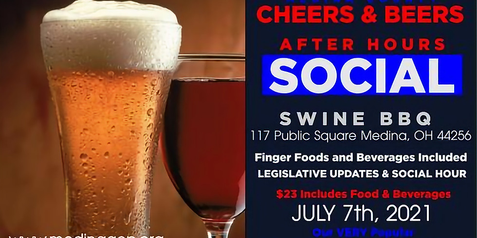 RED WHITE & BLUE Cheers & Beers After Hours