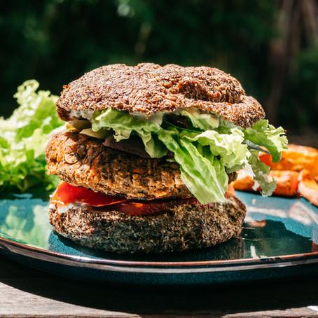 Pain burger healthy sans gluten, sans produits laitiers et low carb