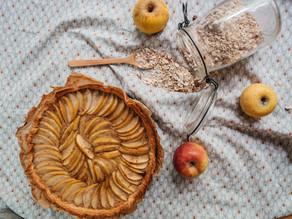 Tarte aux pommes vegan, sans sucres ajoutés