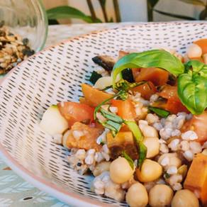 Salade méditerranéenne façon taboulé, vegan et sans gluten