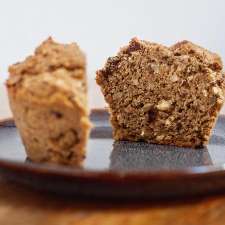 Muffin banane et pépites de chocolat (vegan et pauvre en gluten)