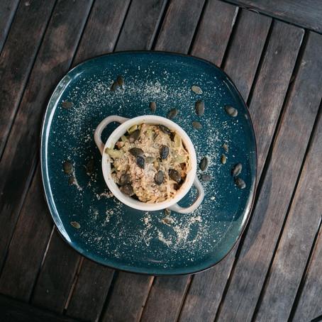 Poêlée de courge spaghetti aux petits légumes d'automne - vegan et sans gluten
