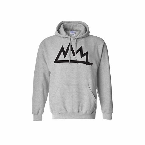 Grey/Black Crown Hoodie