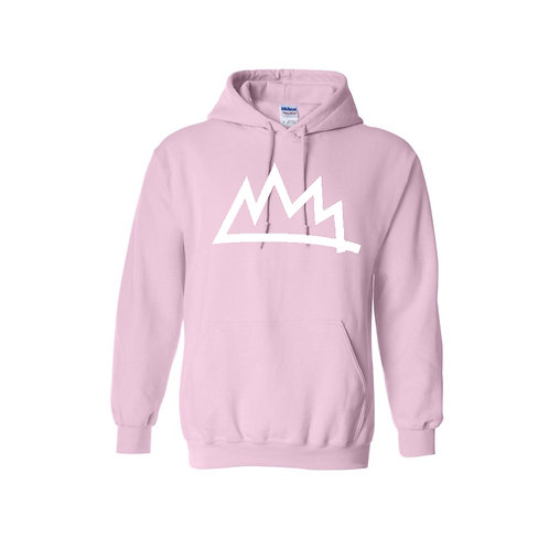 Soft Pink/White Hoodie