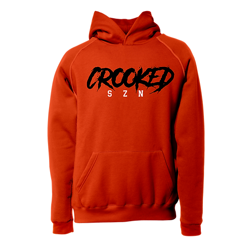 Red 'Crooked SZN' Hoodie