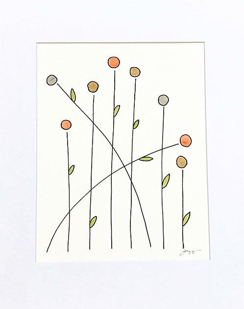 Orange Gray Brown