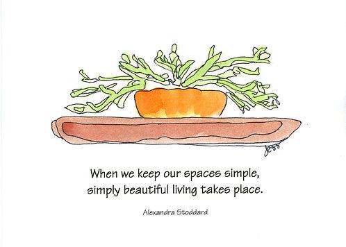 Simplicity - Keep Spaces Simple