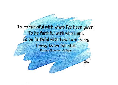Spiritual - To be Faithful