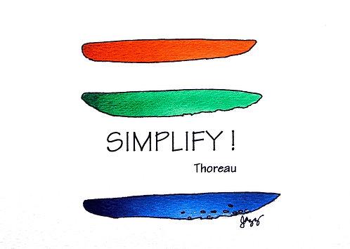 Simplicity - Thoreau