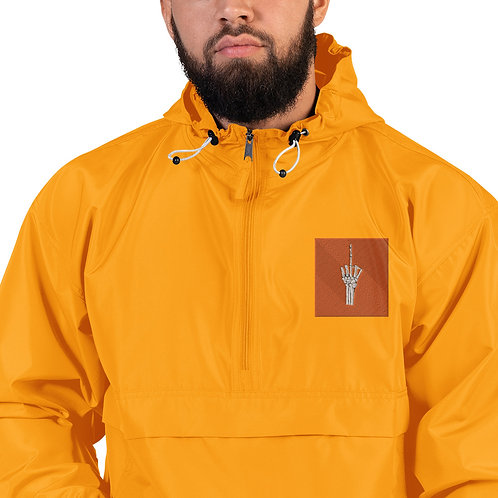 Embroidered F You Finger Champion Packable Jacket
