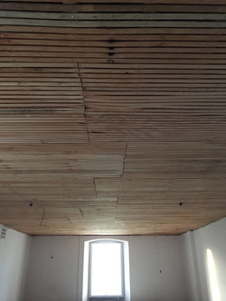 Lathed ceiling