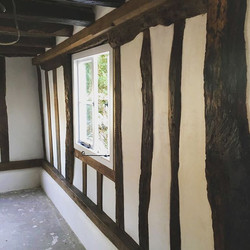 Lath and Lime Plaster to a Timber Frame House in Abington