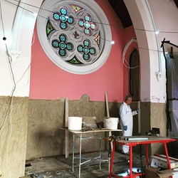 Carrying out Lime Repairs in Histon Methodist Church