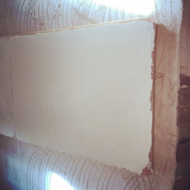 The start of a NBT insulated plaster sys