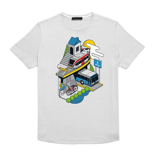 Illustration shown on a t-shirt