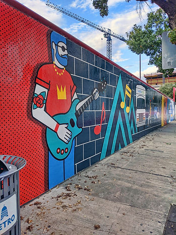 CapMetro mural - guitarist