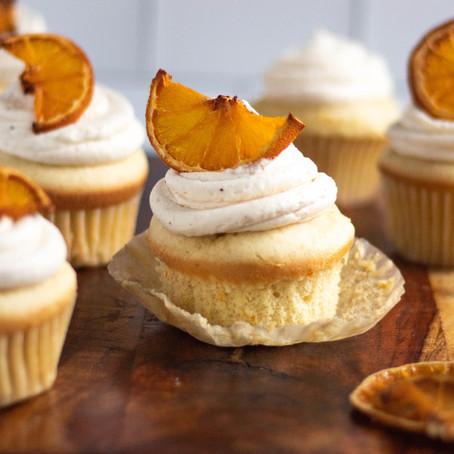 Gluten-Free Vanilla Orange Cupcakes