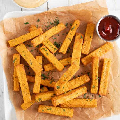 """Vegan Air Fryer Polenta """"Fries"""""""